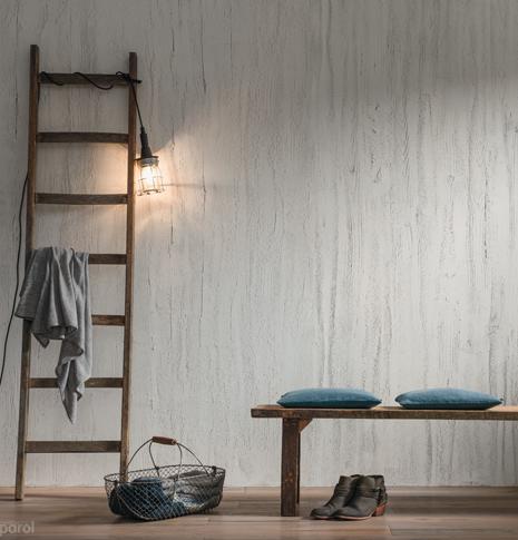 Referenzen von Oskar Seus grau strukturierte Wand