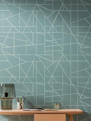 Kreative Maltechniken von Oskar Seus Wand mit geometrischem Muster