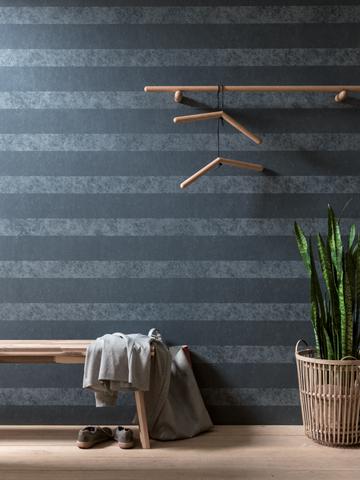 Kreative Maltechniken von Oskar Seus grau gestreifte Wand