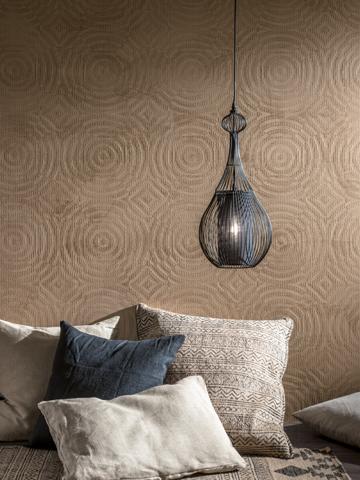 Kreative Maltechniken von Oskar Seus Wand mit braunem kreisförmigem Muster