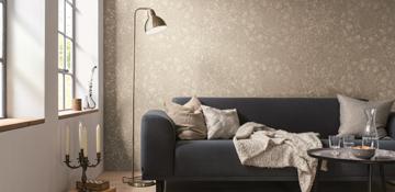 Startseite von Oskar Seus beige gemusterte Wand